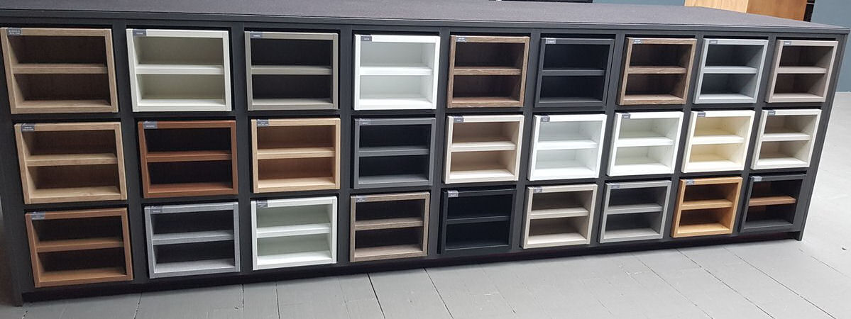 Sample of cabinet colours