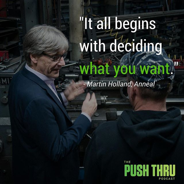 Follow the link in our bio to listen to our conversation with Martin Holland of Anneal Business Coaching on why a vision is the first thing you need.  #pushthru