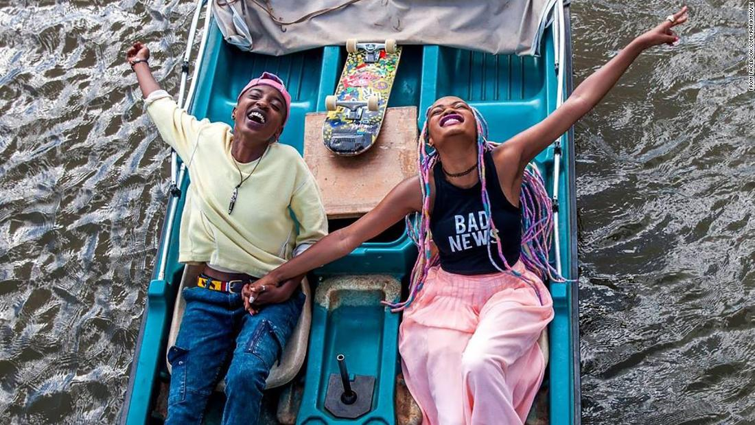 Rafiki  feat. Sheila Munyiva and Samantha Mugatsia - production still courtesy of Big World Cinema