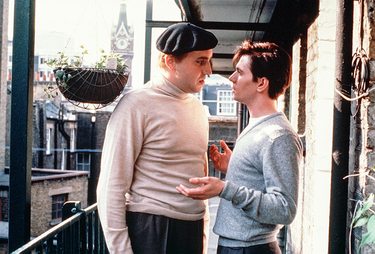 Alfred Molina as Kenneth Halliwell and Gary Oldman as Joe Orton in  Prick up your Ears  (1987) - courtesy of British Screen Productions