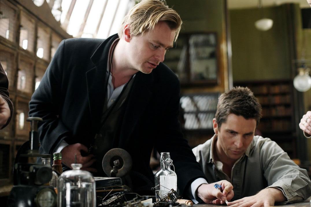 Christopher Nolan directing Christian Bale in  The Prestige  (2006)