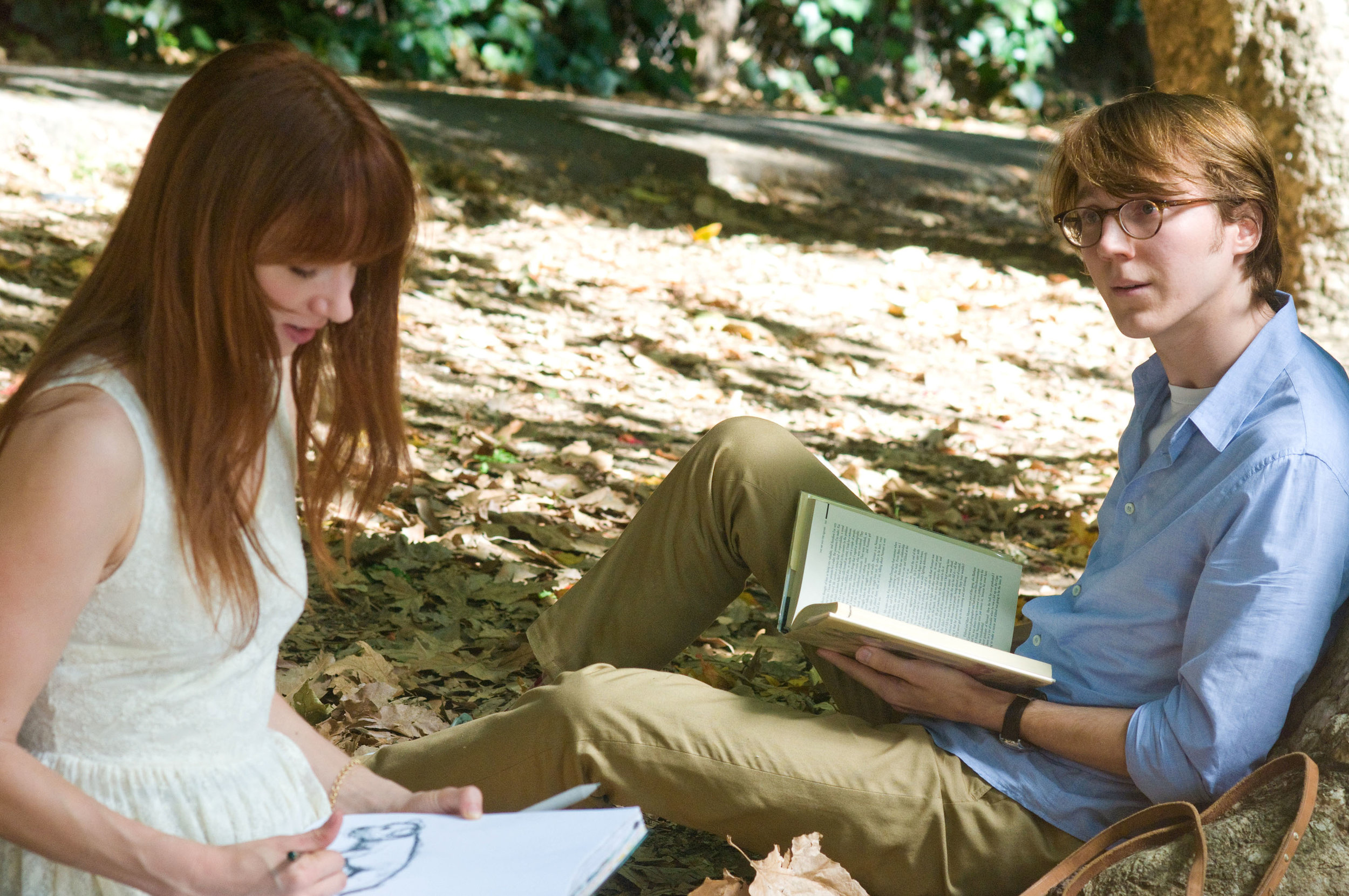 Zowie Kazan (as Ruby Sparks) and Paul Dano (as Calvin Weir-fields) in  Ruby Sparks  (2012)