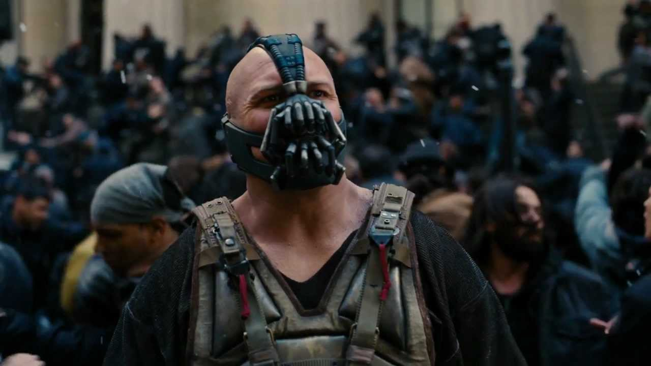 Tom Hardy as Bane in  The Dark Knight Rises  (2012)