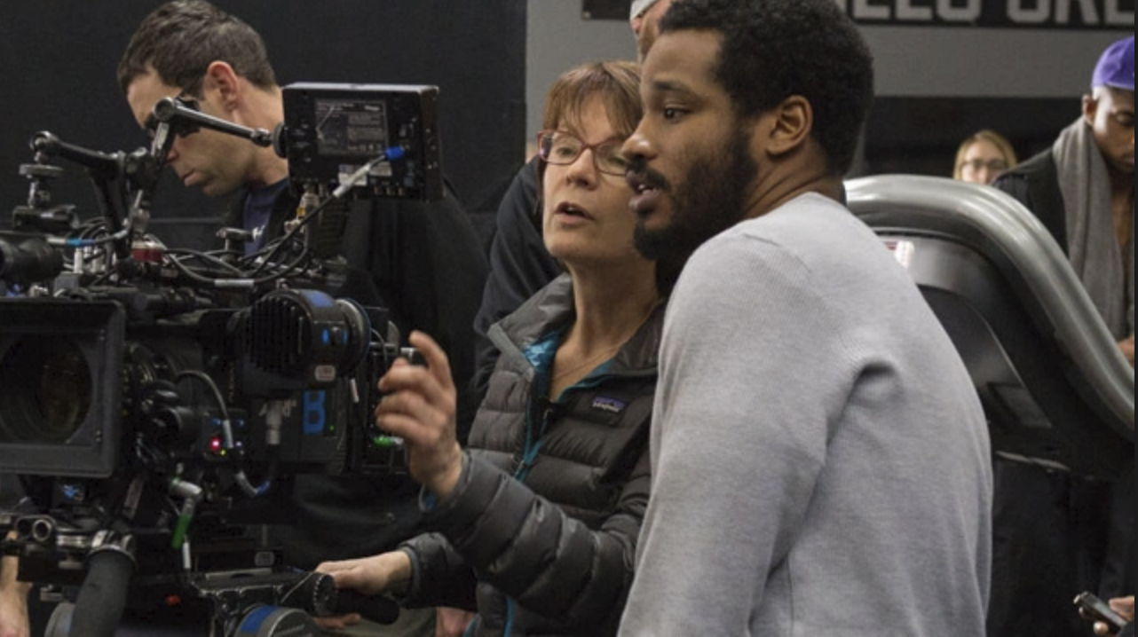 Maryse Alberti on set for  Creed  (2015) with Ryan Coogler - courtesy of Warner Bros.