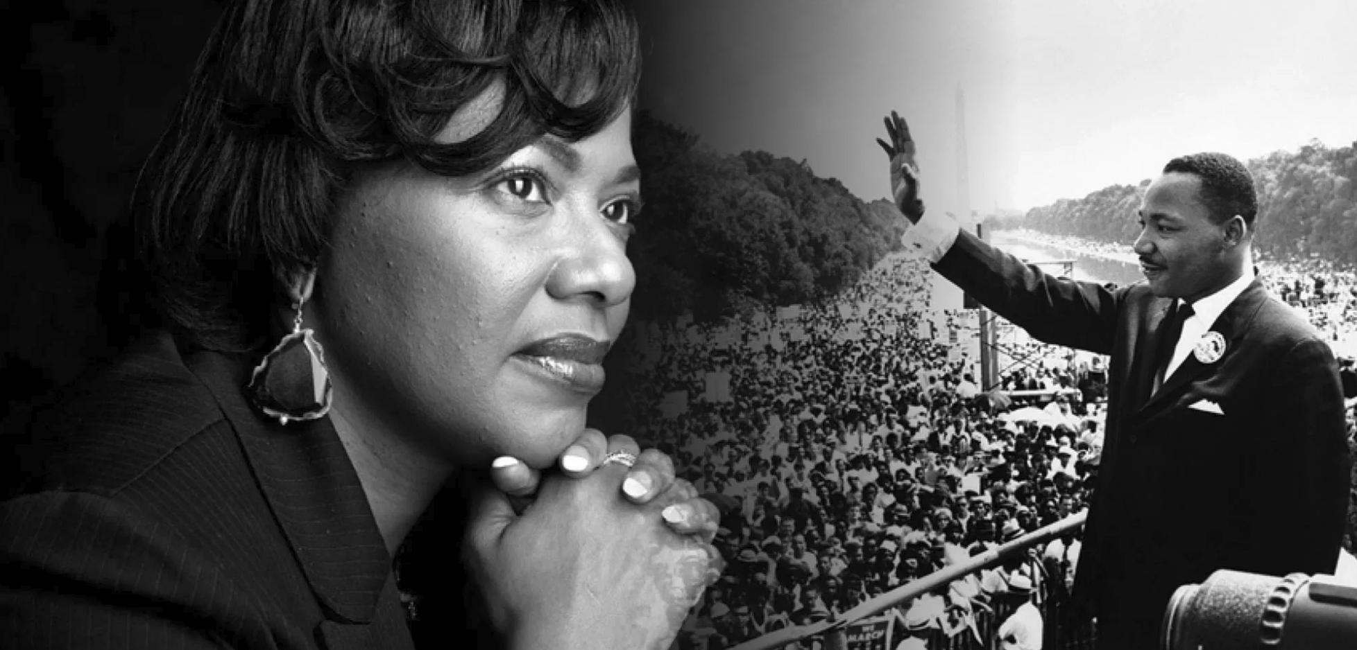 R-L Bernice King, Martin Luther King Jnr.