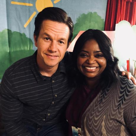 Mark Wahlberg and Octavia Spencer on the set of  Instant Family