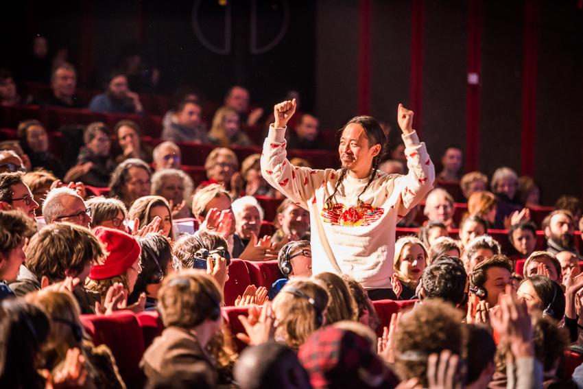 Makoto Nagahisa at the premiere of  And so we Put Goldfish in the Pool , Sundance Film Festival 2017 © Sauve