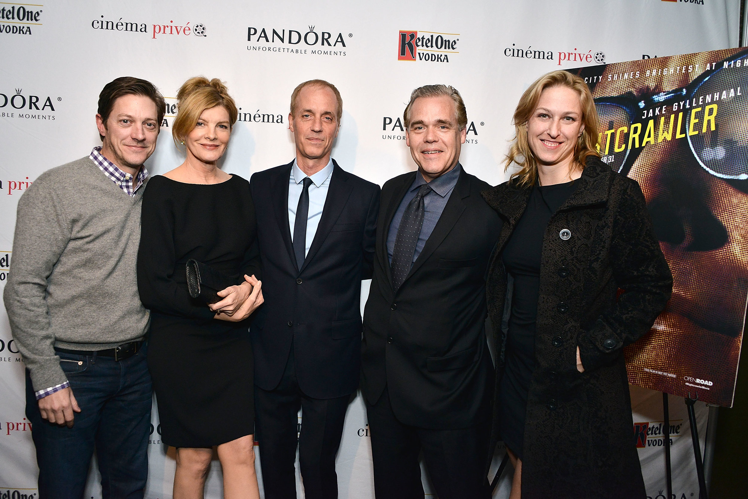 R-L Margit Pfeiffer, John Gilroy, Dan Gilroy, Rene Russo, Kevin Rahm - Photo by Araya Diaz/Getty Images Entertainment / Getty Images