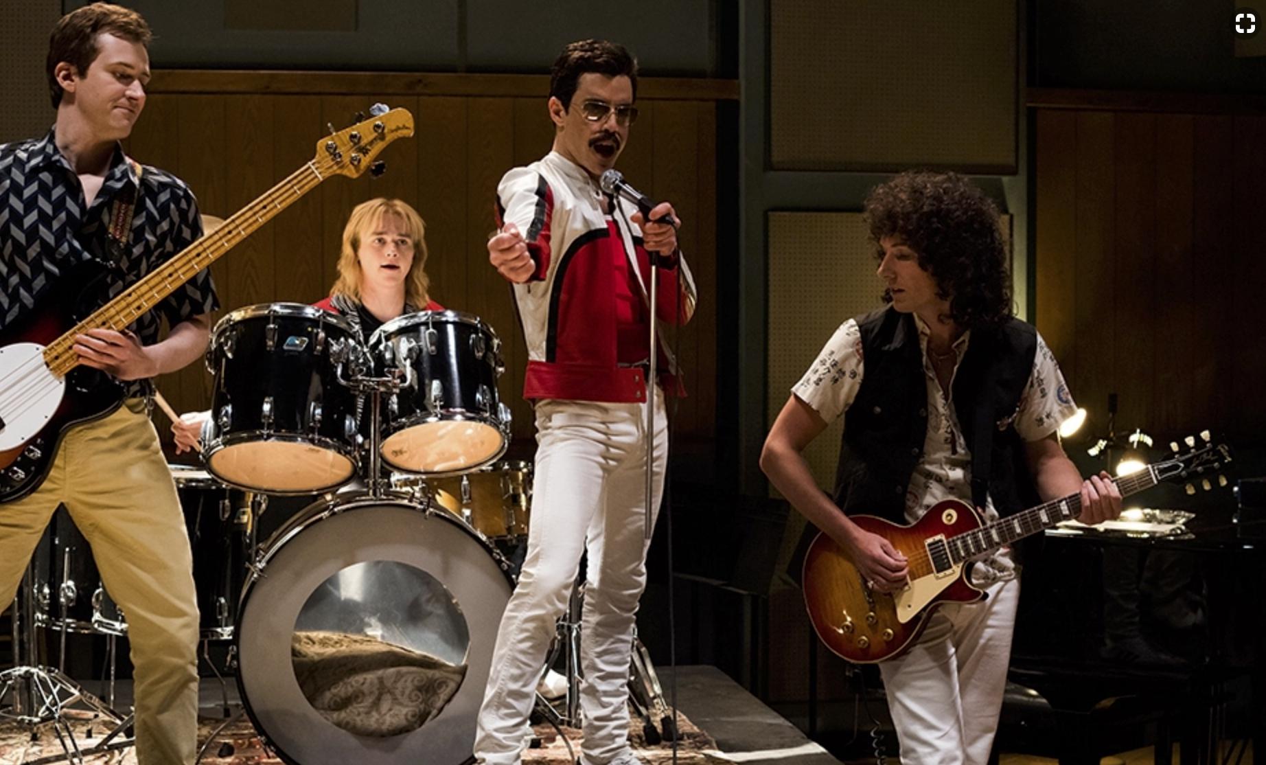 Joseph Mazzello, Ben Hardy, Rami Malek, Gwilym Lee in  Bohemian Rhapsody  (2018) - 20th Century Fox