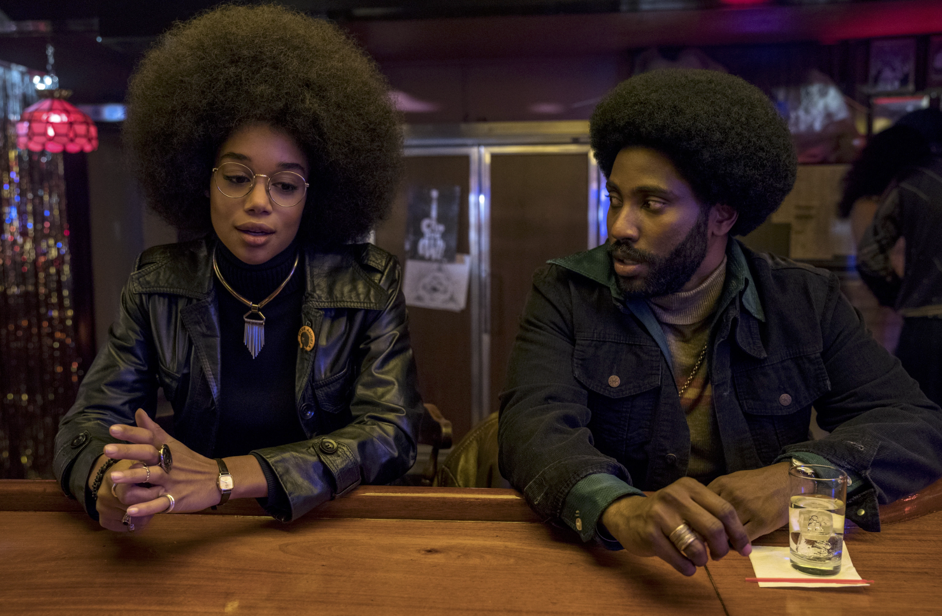 Laura Harrier and John David Washington in Spike Lee's  BlacKkKlansman  (2018)  -  Focus Features