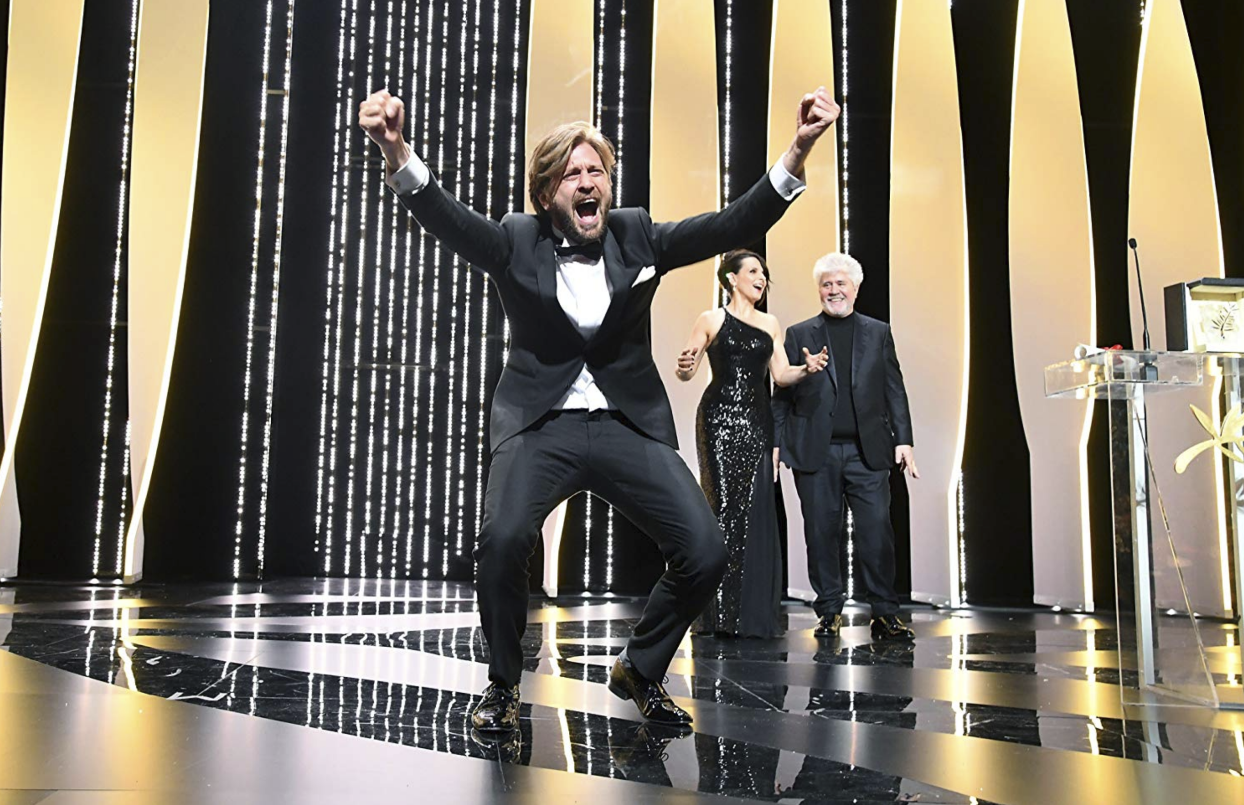 Ruben Östlund wins the Palme d'Or in 2017 for  The Square  - courtesy of the Festival de Cannes