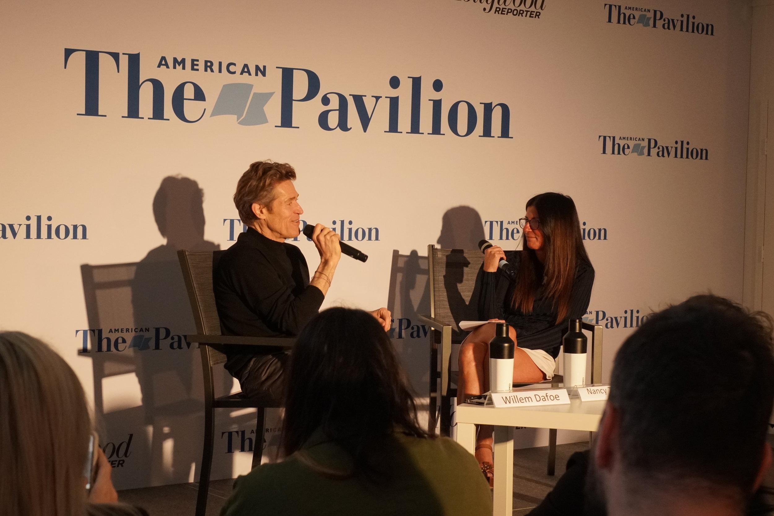 Willem Dafoe in Conversation with Natalie Tartaglione at the American Film Pavilion - © I AM FILM 2019