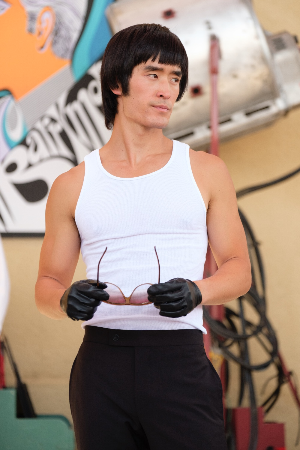 Image Credit: Andrew Cooper / Sony Pictures — Feat. Mike Moh as Bruce Lee