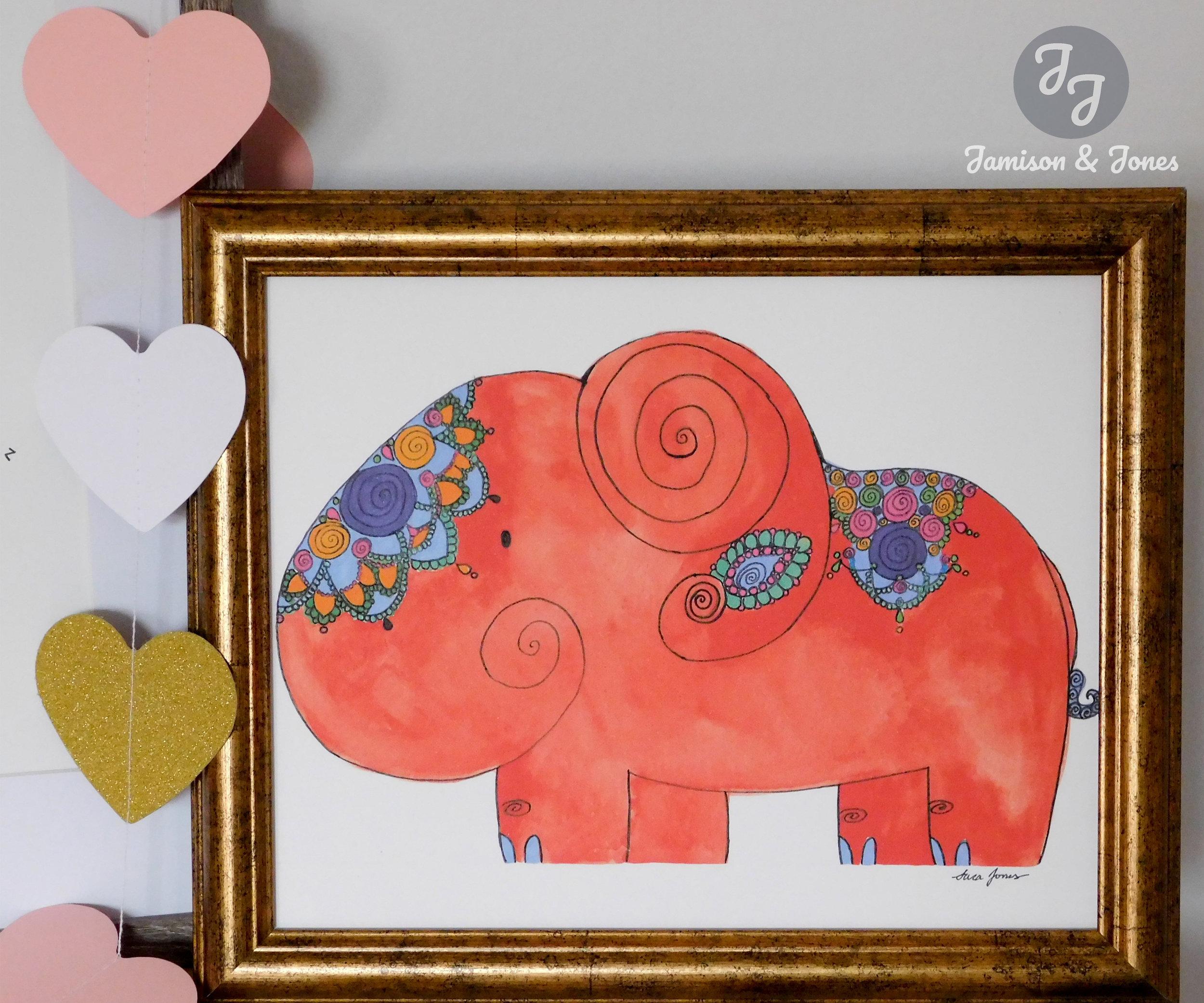 Burnt Orange Bali Elephant