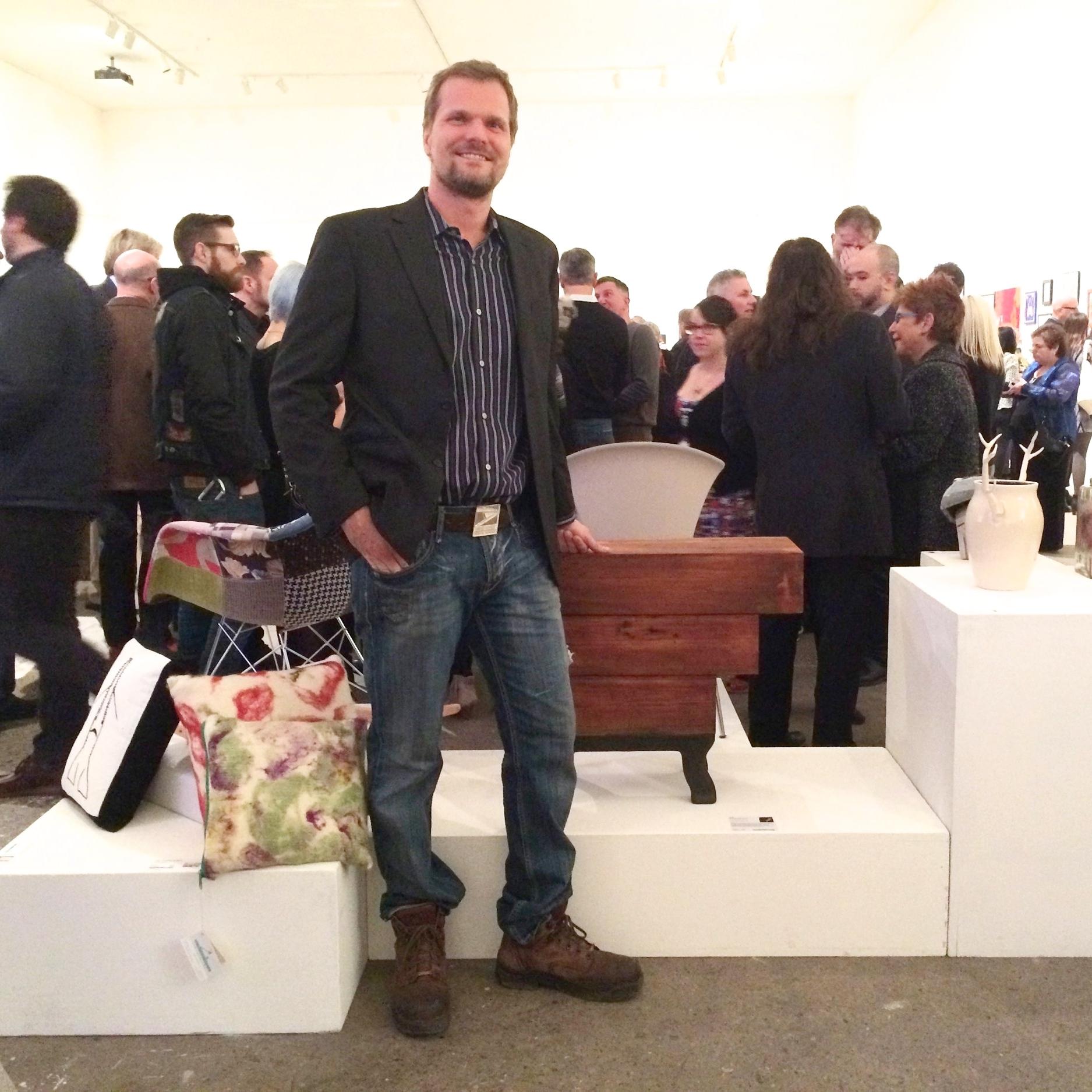 Jason Allen Pemberton at InLiquid Arts Benefit with Reclaimed Table