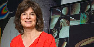 """Carolyn Porco   University of California, Berkeley   Carolyn Porco presented a dramatic visual tour of the Saturn system through the eyes of her cameras on Cassini, and finish with a look at what the future is likely to bring – and the legacy that our explorations throughout the solar system leave behind.  Carolyn is behind NASA's most iconic photos of the solar system's planets and moons. She is also responsible, with Carl Sagan, for the """"Pale Blue Dot"""" image of Earth taken by Voyager 1. Carolyn most recently led the imaging science team on the Cassini mission, which orbited Saturn from 2004 until September 15, 2017 when Cassini was de-orbited to burn up in Saturn's upper atmosphere. Currently visiting scholar at the University of California, Berkeley, she is also active as a public spokesperson for science and exploration and has consulted on films such as  Contact  and 2009's  Star Trek ."""