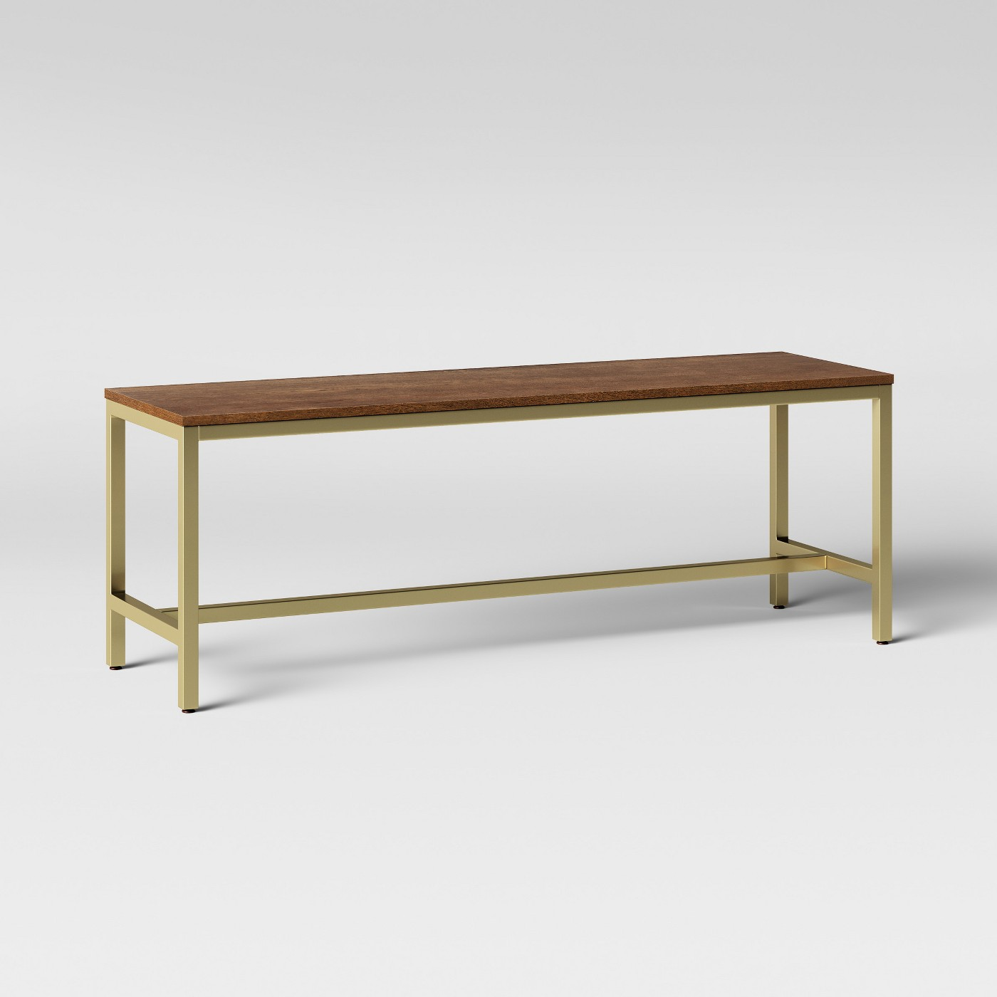 I looove this one from Target. Except the bottom crossbar wouldn't work for how we store some of our odds and ends below our current bench.