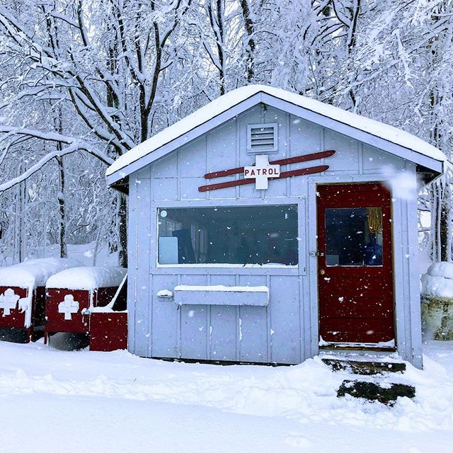 This humble patrol shack is weathering Snowvember just fine. Many trees did not. #skivt