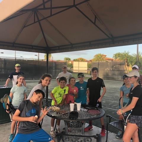 🎾 SUMMER CAMP 2018!! 🎾  9:45 AM - 10:30 AM (Fitness)  10:30 AM - 12:30 PM (Tennis)   LUNCH BREAK    2:00 PM - 3:30 PM (Tennis)  3:30 PM - 4:00 PM (Fitness)