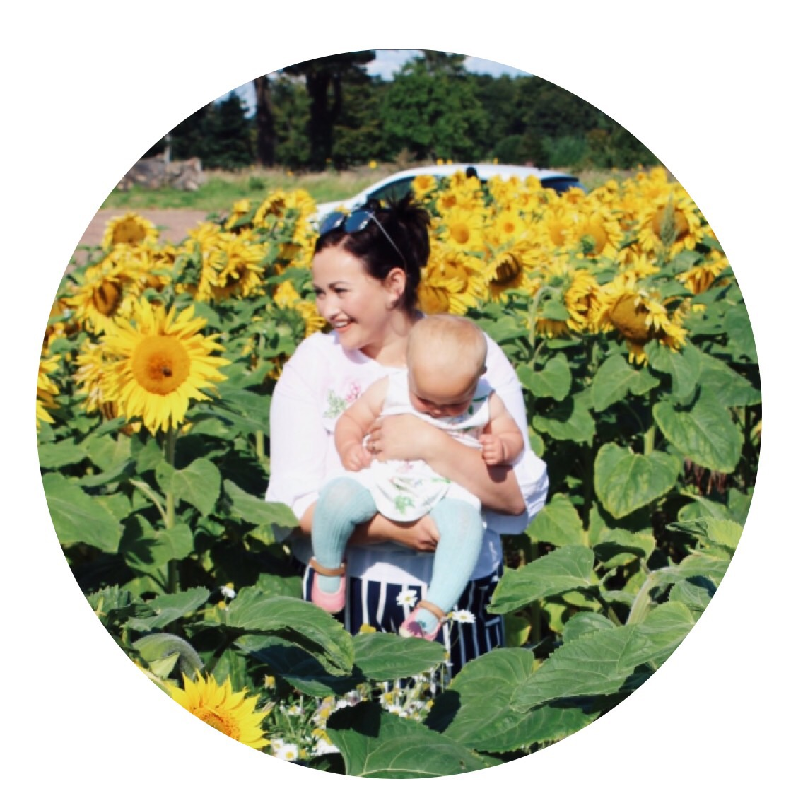 karen and matilda in the sunflowers.JPG