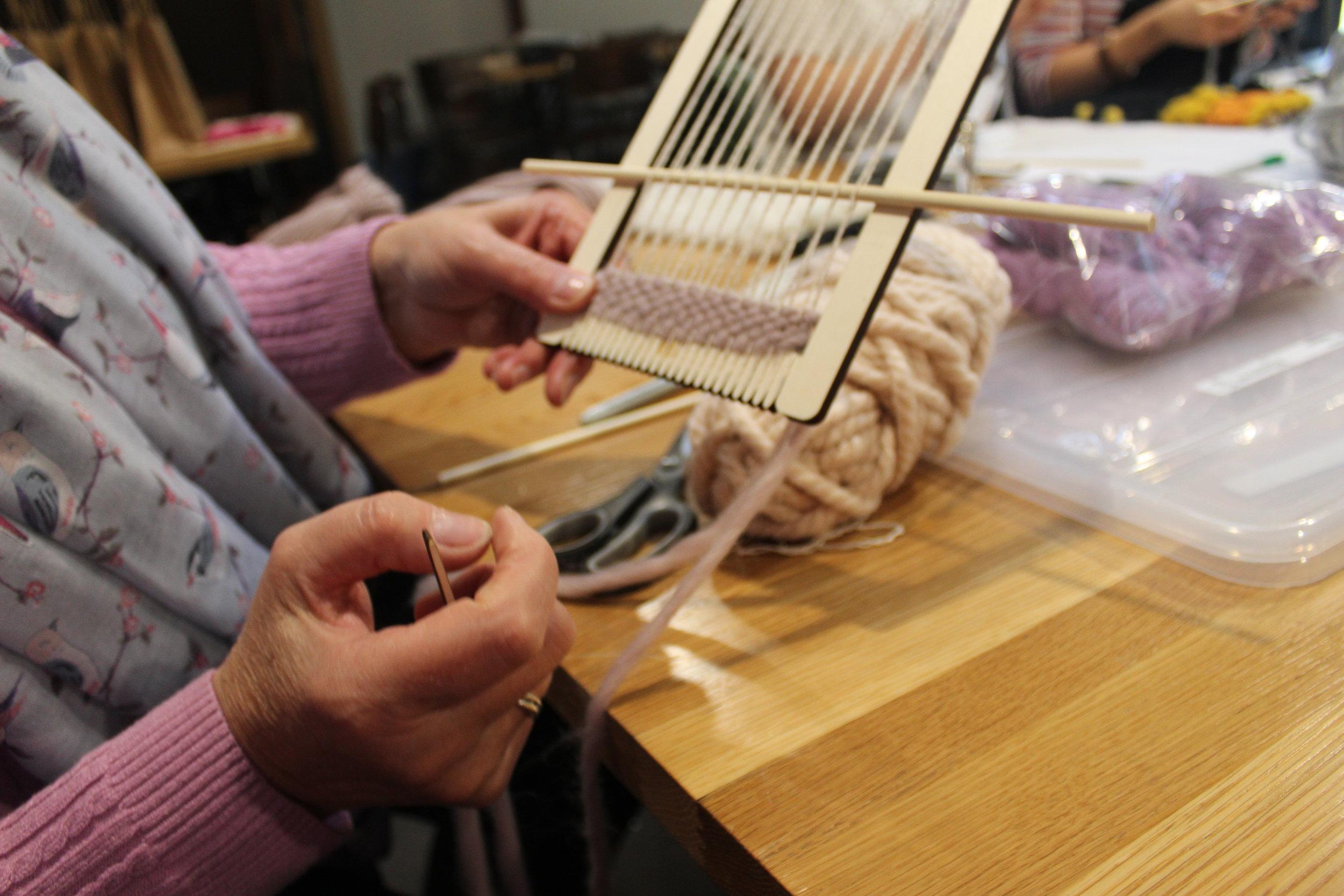 My mums starting weave