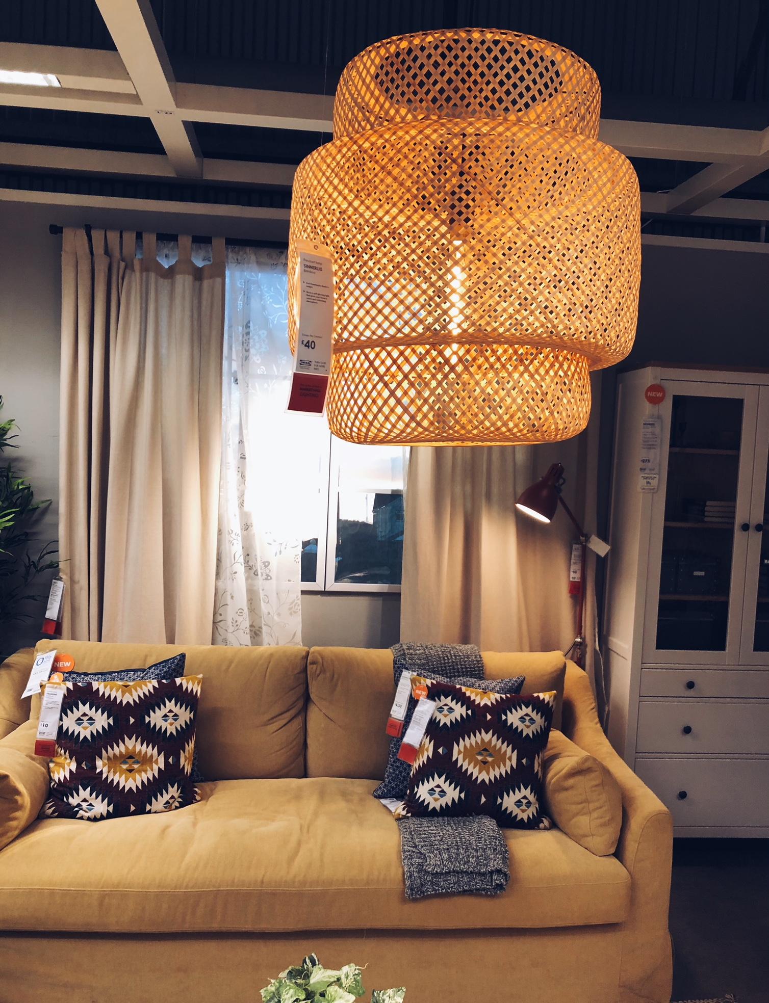 SINNERLIG bamboo lampshade