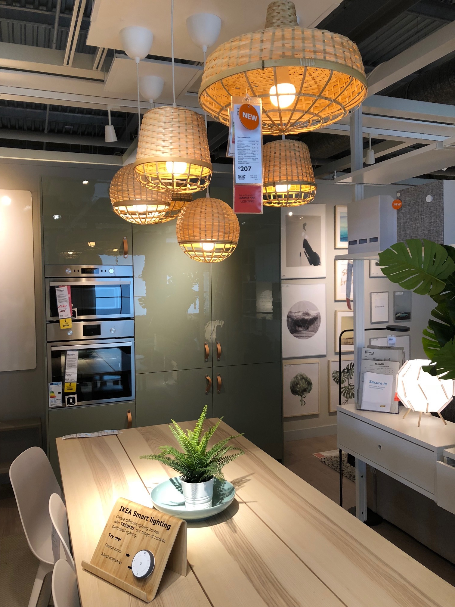 New Rattan lampshades with IKEA Smart Lighting