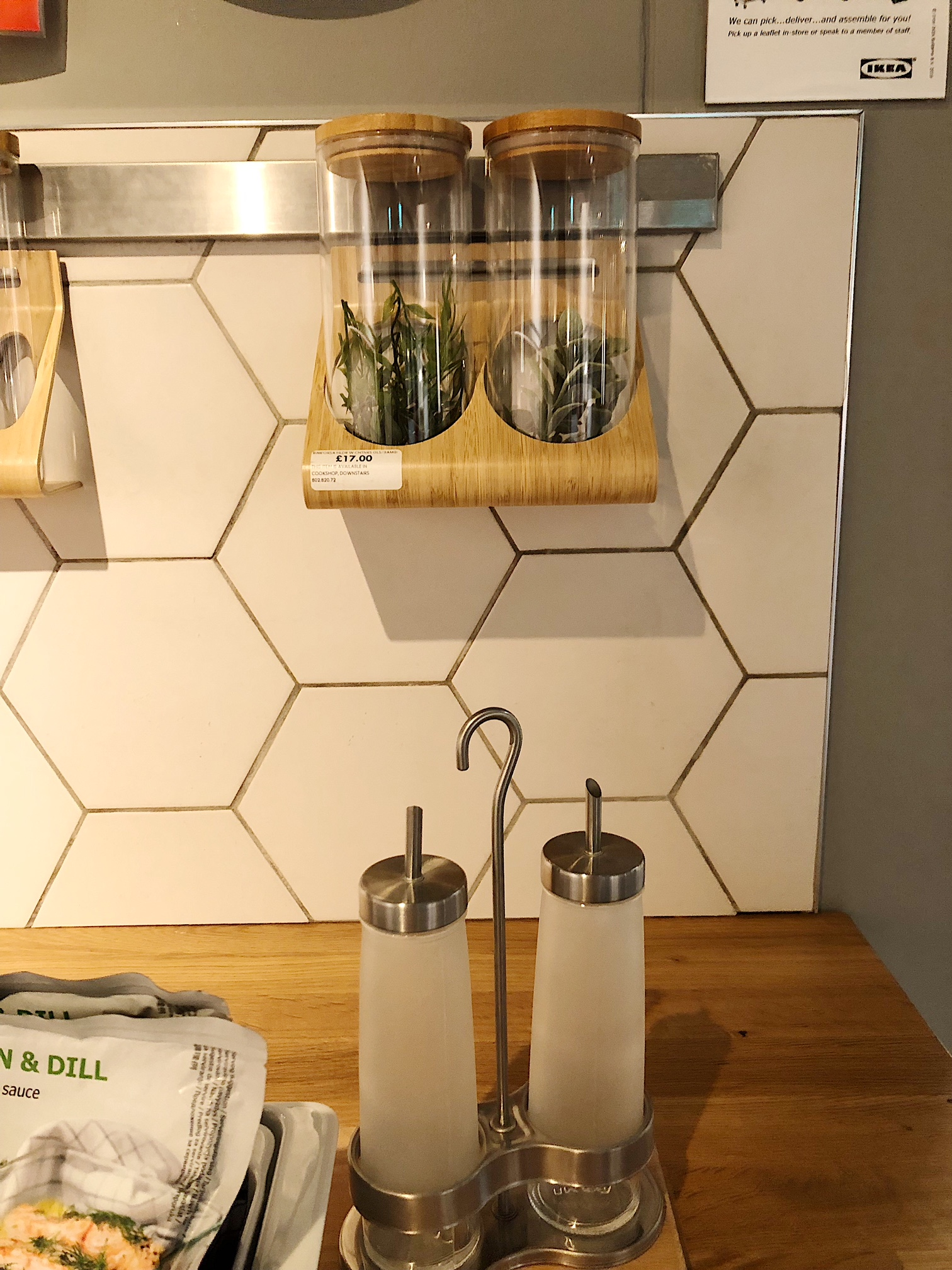 honeycomb tiles for kitchen at ikea.JPG