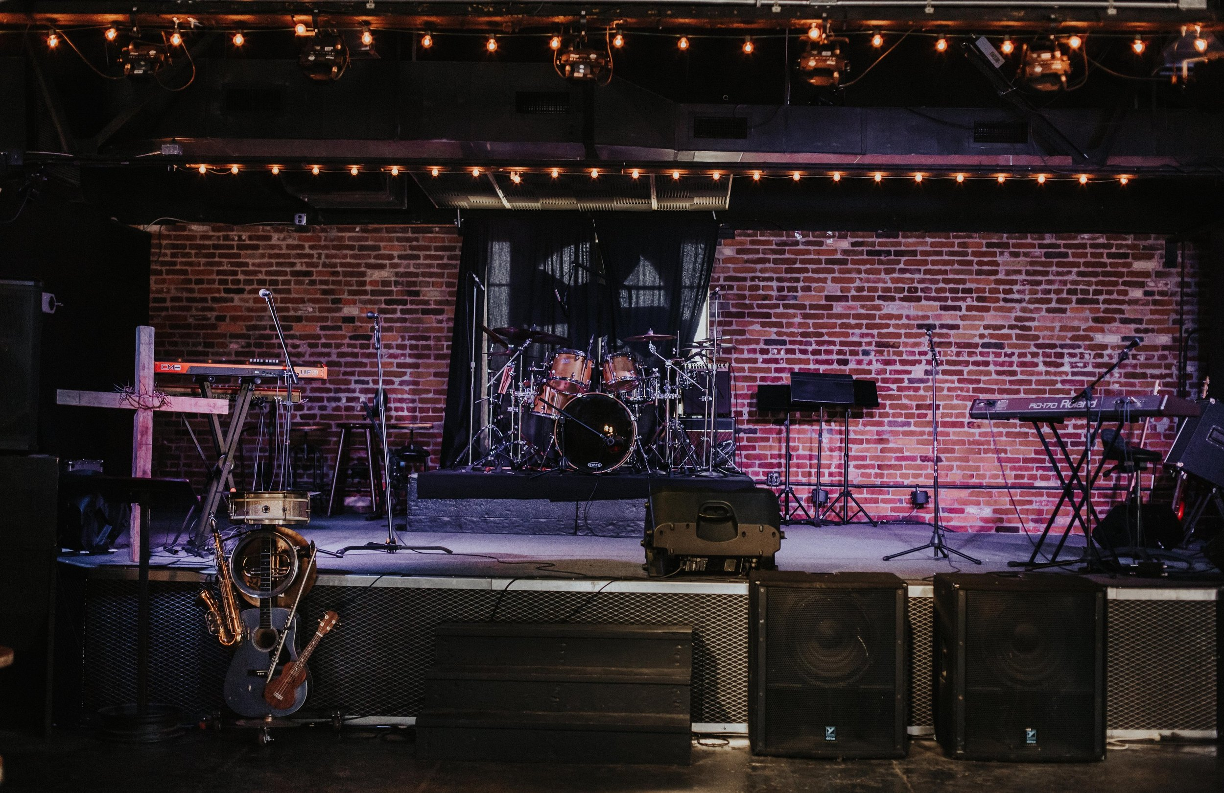 Stage  - The Foundry comes with an easily accessible stage, built in professional sound system, and projector.