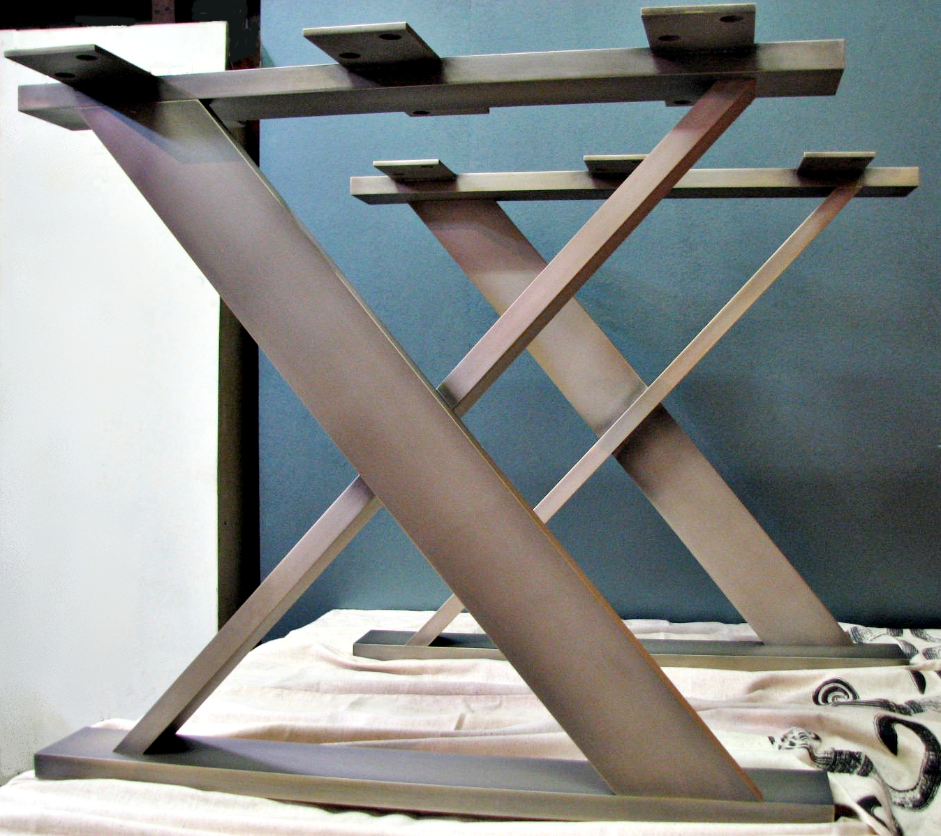 White Bronze Table bases.JPG