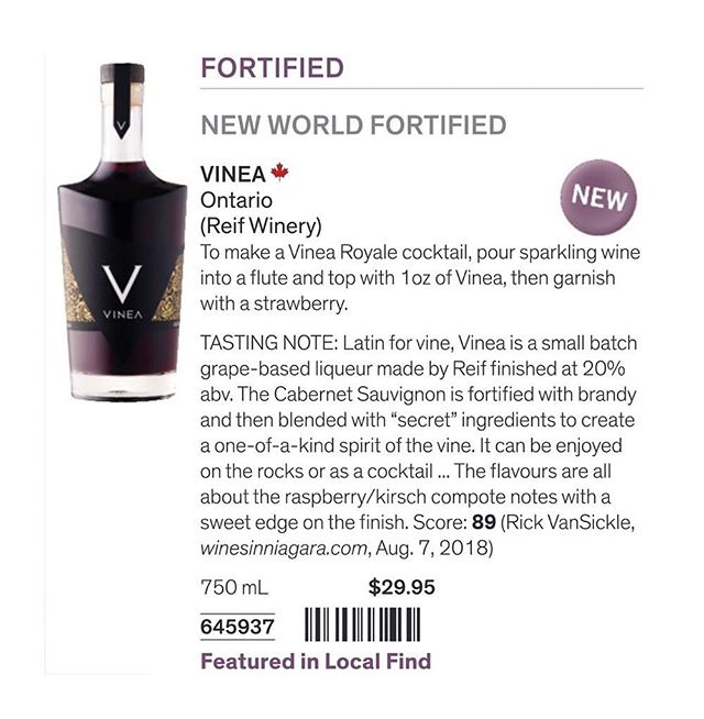 Our #VineaSpirit release tomorrow in #Vintages is a VERY SMALL BATCH. Be sure to check the inventory here before heading out, to find the store nearest you: http://bit.ly/Vinea_Vintages_Stores