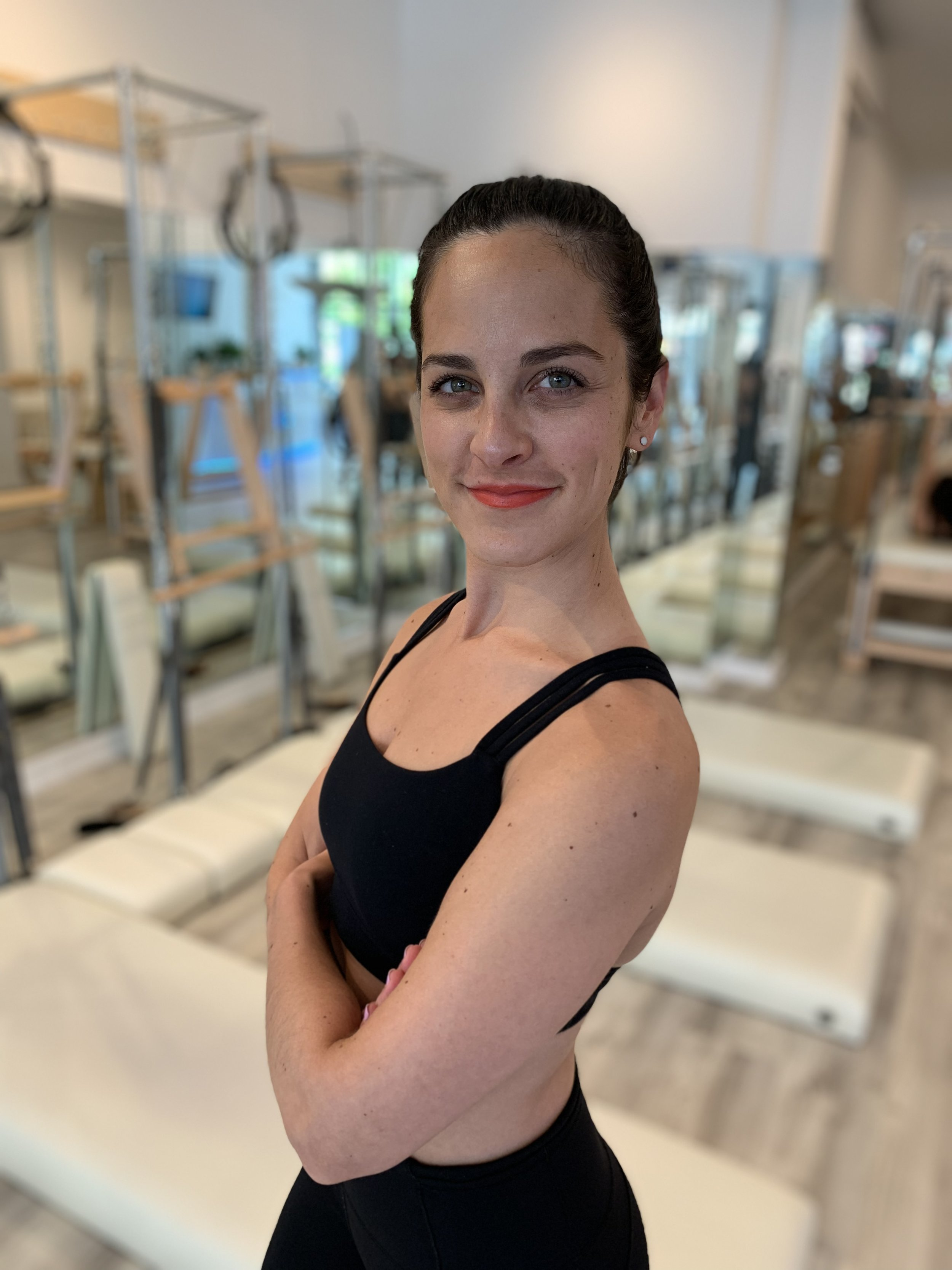 Sarah   Sarah loves Pilates because it's an amazing workout for everyone! She works with a wide range of clients including pre and post natal, those with injuries, beginner and advanced clients, and people of all ages. She loves to utilize all of the classical equipment so her clients can get the most out of their session. Sarah likes to focus on the technique of the exercise first and then continue to execute with flow. She is able to assess a client and quickly adapt to their specific need. Sarah is also happy to target an area a client would like to focus on - after all this is your workout! Her clients will tell you she has a bubbly personality that is infectious. Having fun while we work out? Yes please!