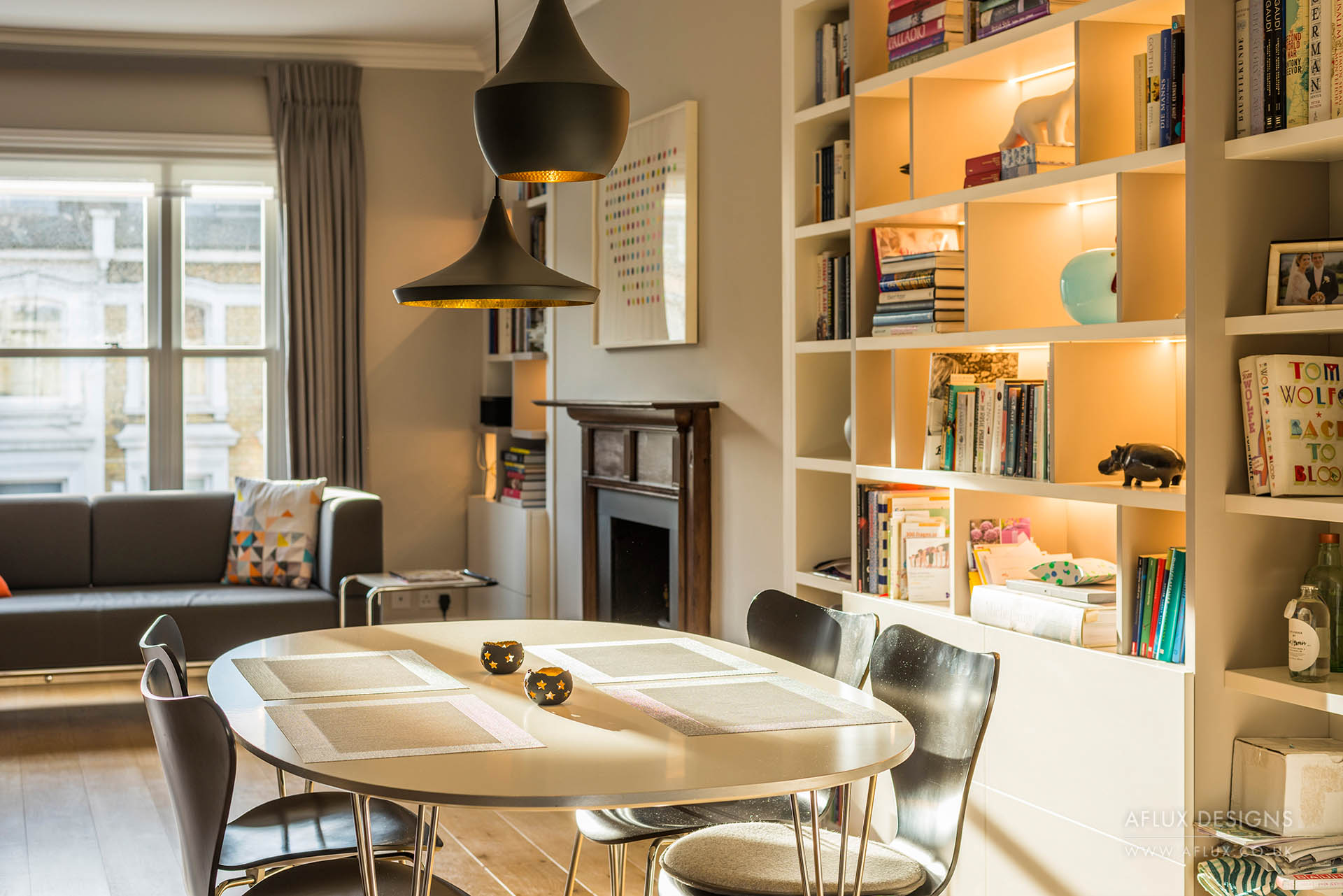 Beaufort Street - LONDON SW3Bringing the Skandi look to a Chelsea apartment. A bespoke design to maximise space, give light and increase storage for a growing family in London.