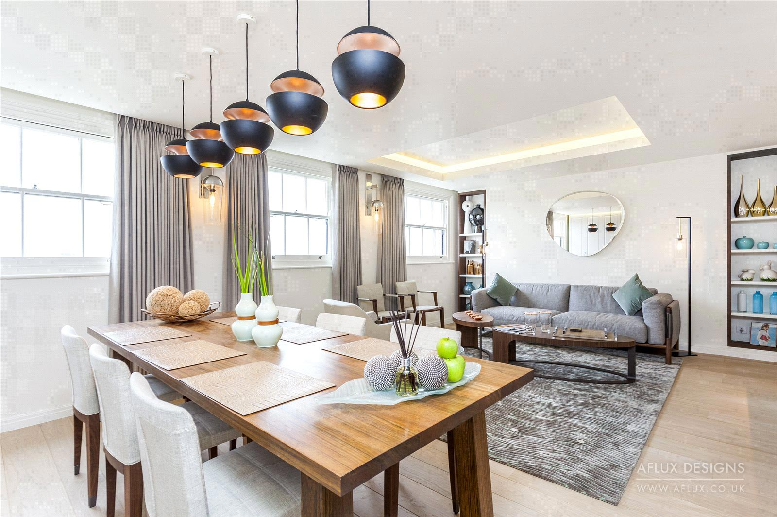 Hyde Park Gardens - LONDON W2A high end finish in a high end area. The challenge to design and turn a compact space with low ceilings into a bespoke, spacious and modern apartment with a contemporary finish.