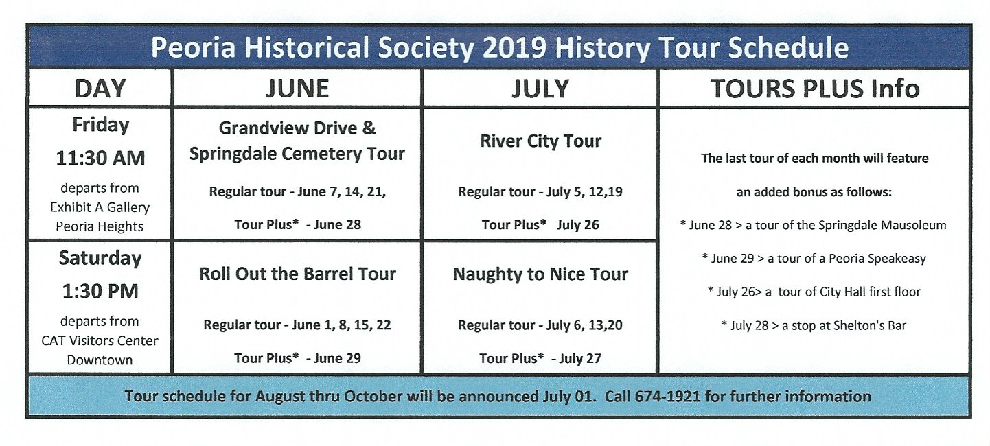 Tickets Here -                        History Tours June 1 - October 27, 2019
