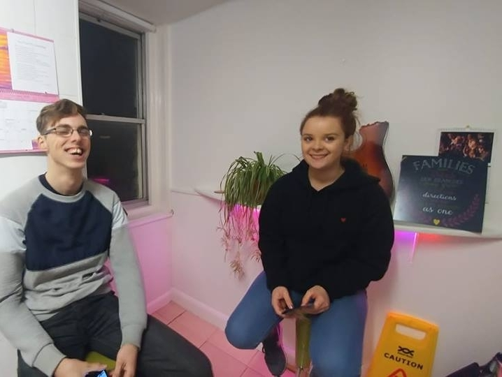Young Project beneficiaries planning a music video shoot at this evenings Performing Room project for young people that aims to spread awareness of food poverty and homelessness in Northampton Town Centre -