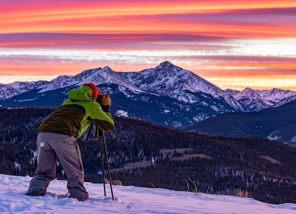Capturing an amazing sunset above Mount of the Holy Cross from Vail Mountain. (About page photos courtesy of @scottbellow)