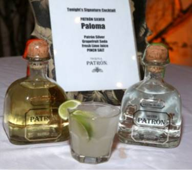 ChefDance Storytellers Dinner Series Sponsor, Patron, with their specialty cocktail of the evening, Paloma. Randy Shropshire/ Getty Images