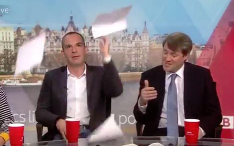 The frustration of Martin Lewis on Politics Live