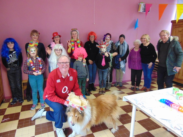 """Our intrepid Garry at the first """"Carnaval"""" of the year organised in his local community"""