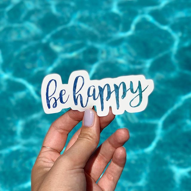 Wherever you are, I hope you have a happy and relaxing #NationalRelaxationDay 🥰😎 (Be Happy sticker available in my Redbubble shop - link in bio)