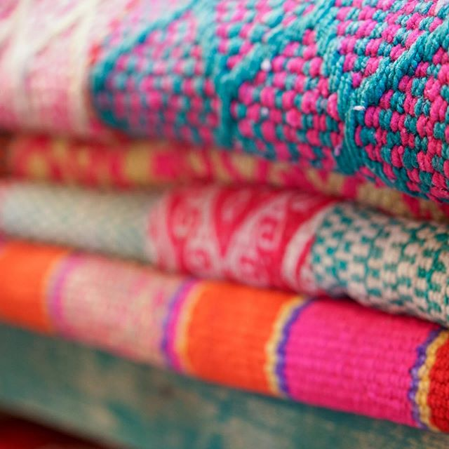 One thing that I've always loved is the beautiful colors found in traditional textiles. There is something so inspiring about the mixture of vibrant hues. 💗🧡💙💛💚 #colormakesmehappy #popsofcolor #inspodesign #mondaymuse