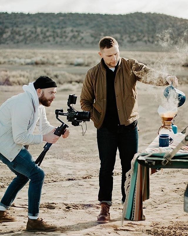 Had a blast shooting in the desert with @farewellcoffeeroasters this morning. New work coming soon! 📷: @cc___photo