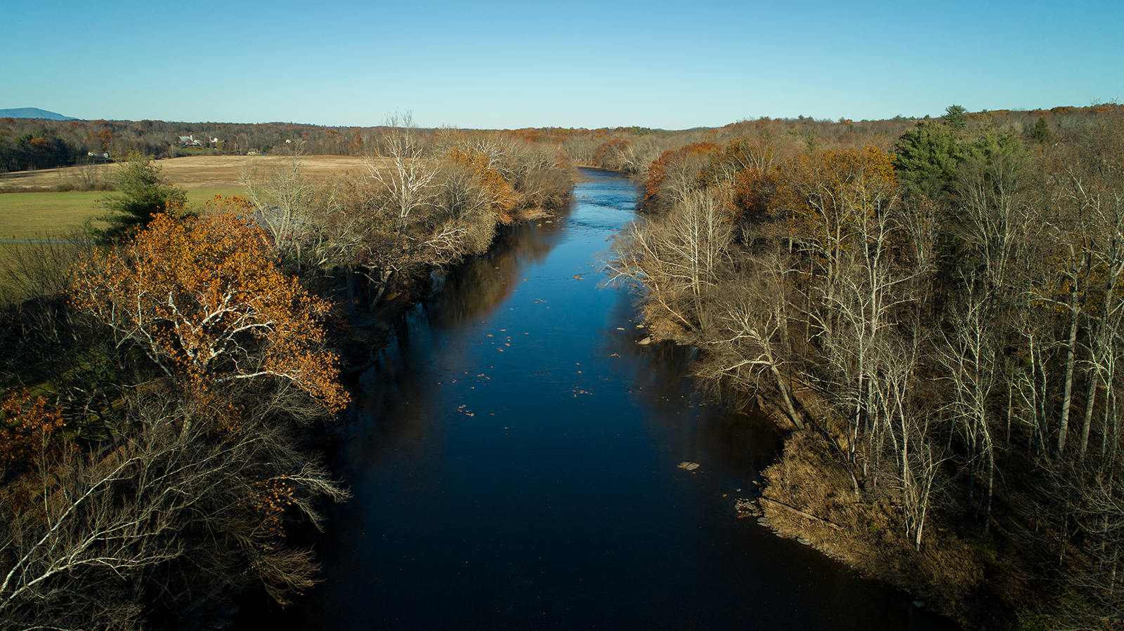 Rondout Creek in Alligerville looking North