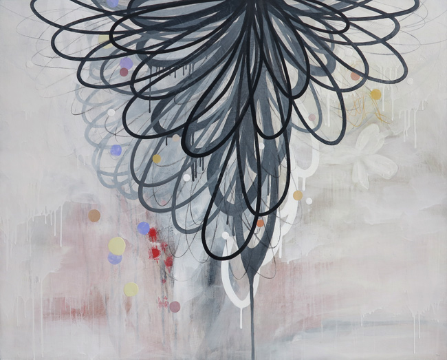 """SPREADING TAIL FEATHERS 48""""x60"""""""