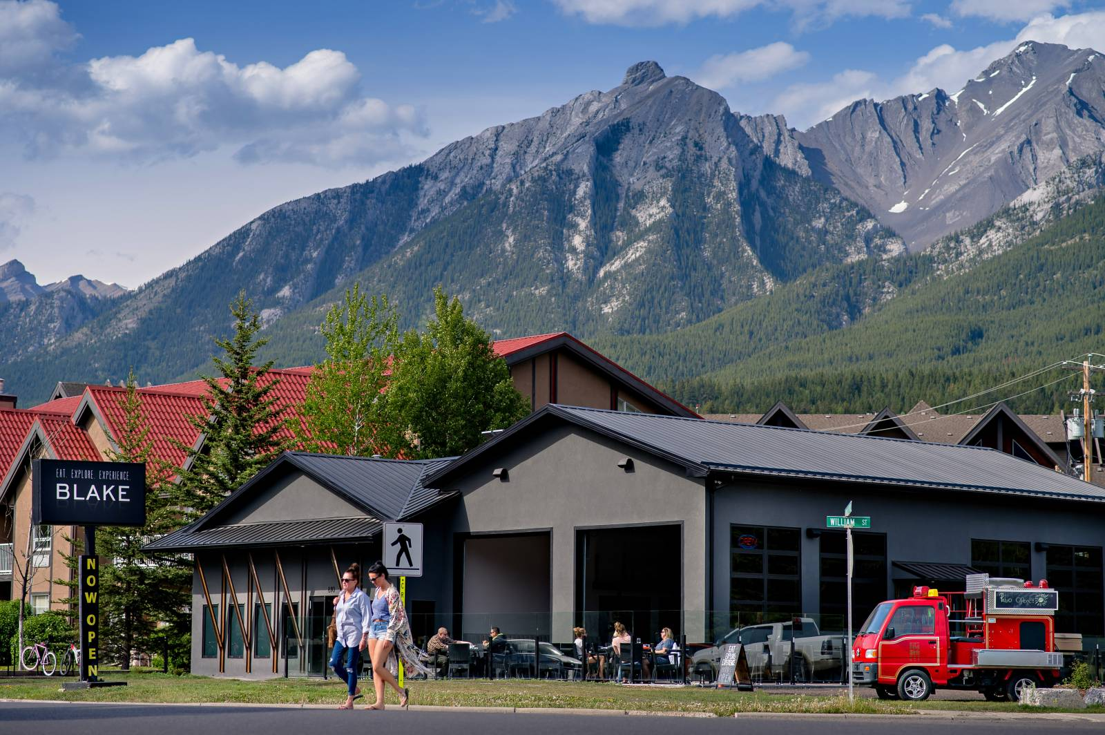 Top 5 Canmore Restaurants with a View   It really doesn't matter where you are in Canmore, you are surrounded by stunning views. We wanted to share our top five spots for great food AND great views.    PD3 by Blake  . The intimate fine dining restaurant atop a fully renovated 1962 Leland double decker bus has the perfect view of Canmore's famous three sisters. You'll be treated to the outstanding 5 course prix fixe menu (with a glass of  on tap  Prosecco to start) while you watch the golden evening light sweep across the mountains.   Read more