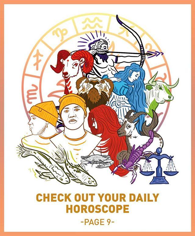 Daily Targum house ad #horoscopes #ad #editorial #illustration #design