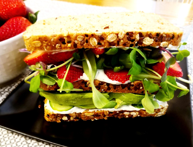 Strawberry-Avocado Dagwood with Tarragon Mayo