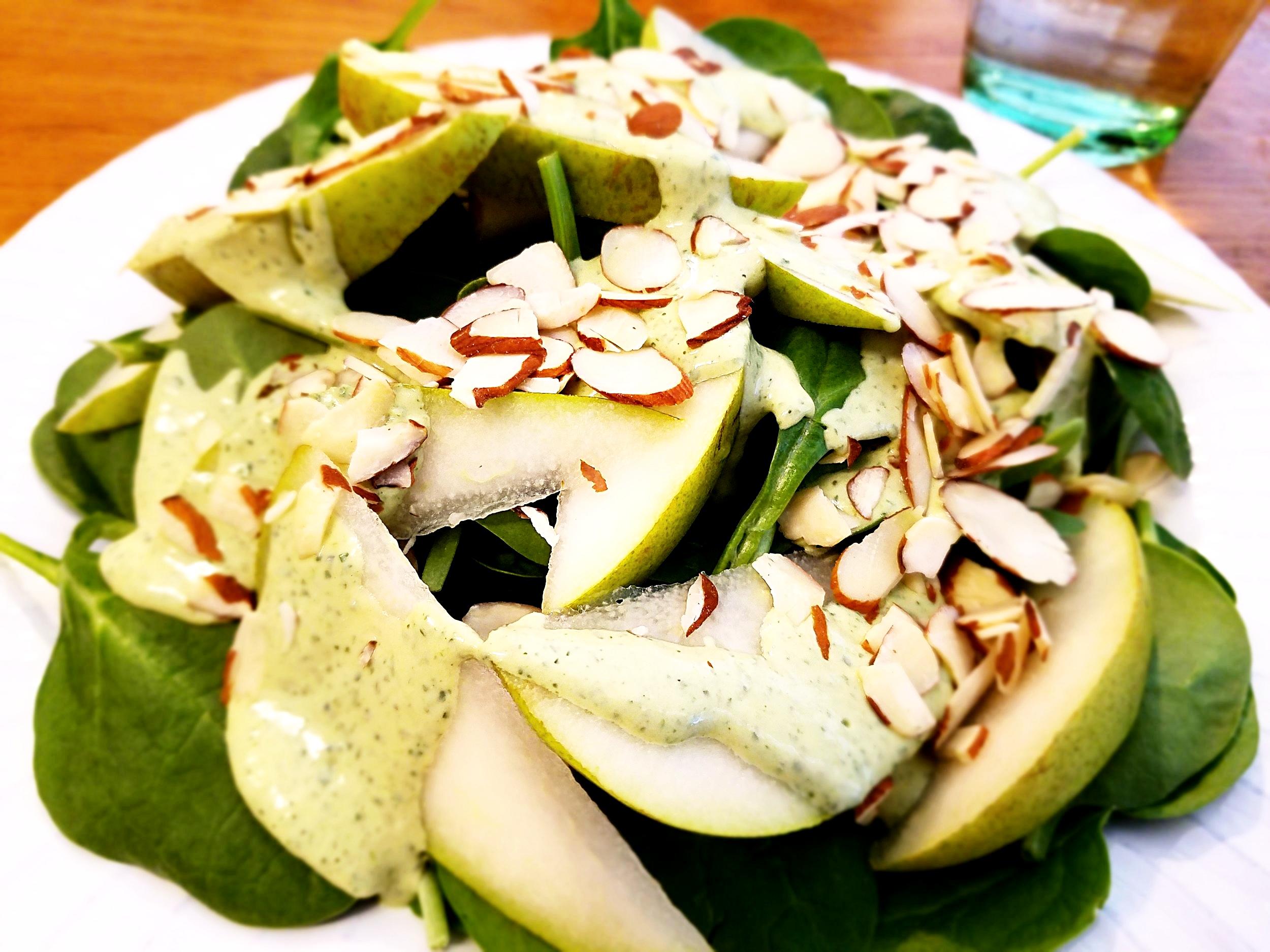 Lemon Tahini Pear Saladjpg