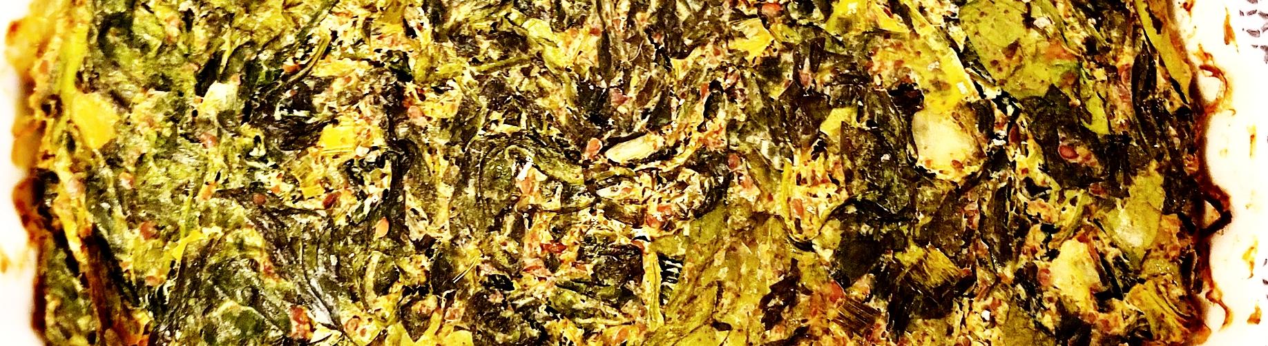 Jackson Pollock? Nah, it's just a frittata.